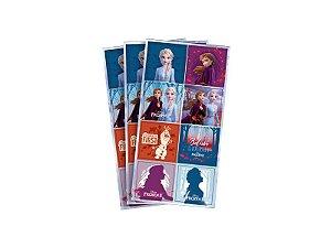 Adesivo decorativo quadrado Frozen II com 03 cartelas