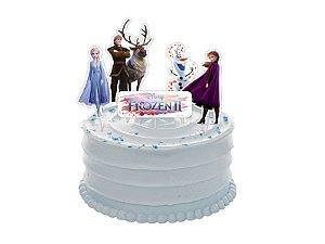 Topper cenário para bolo Frozen II