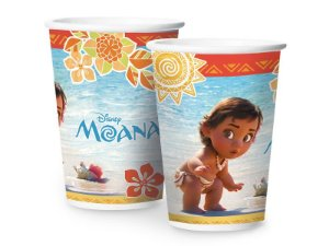 Copo papel Moana Baby 180ml com 08 unidades