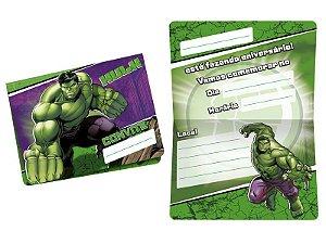 Convite Hulk com 08 unidades