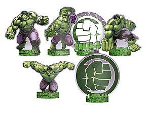 Decoração de mesa Hulk com 06 unidades