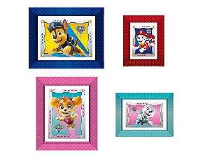 Quadrinhos decorativos Patrulha Canina com 04 unidades