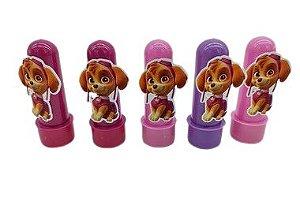 Mini Tubete Patrulha Canina Rosa com 05 unidades