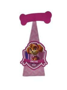 Caixa Cone Patrulha Canina Rosa com 06 unidades