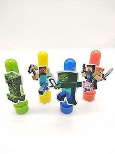 Tubete Minecraft com 04 unidades
