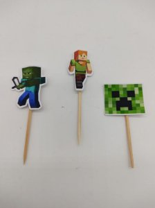 Pick decorativo Minecraft com 12 unidades
