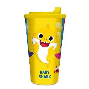 Copo Plástico infantil com tampa Baby Shark 300 ml