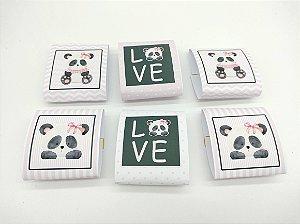 Embalagem de Brownie Panda Rosa com 06 unidades