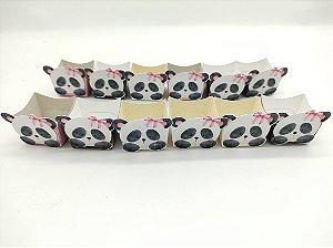 Forminha Mini Cachepot Panda Rosa com 12 unidades