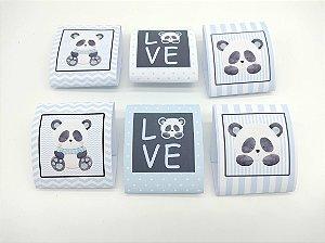 Embalagem de Brownie Panda Azulcom 06 unidades