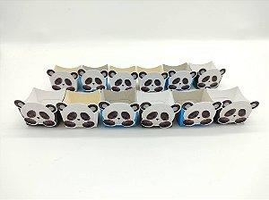Forminha Mini Cachepot Panda Azul com 12 unidades