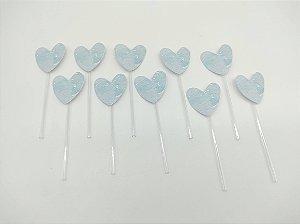 Pick decorativo Panda Azul com 10 unidades