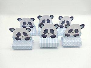Porta Bis Triplo Panda Azul com 06 unidades