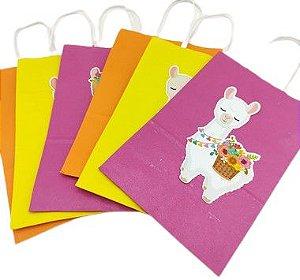 Sacola de papel Lhama com 06 unidades