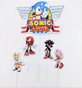 Topo de Bolo personalizado Sonic