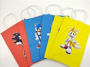 Sacola de papel Sonic com 06 unidades