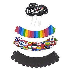 Kit para cupcake Now United com 06 unidades