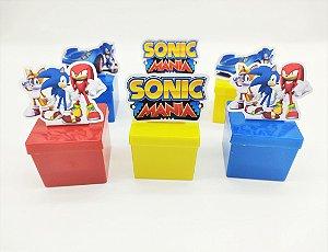 Lata quadrada Sonic com 06 unidades