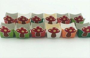 Forminha Mini Cachepot Bosque com 12 unidades