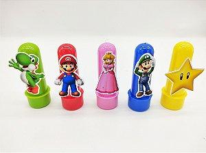 Mini Tubete Super Mario com 05 unidades