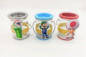 Lata com alça Super Mario com 06 unidades