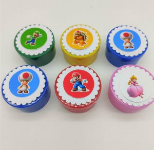 Lata redonda Super Mario com 06 unidades