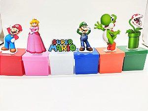 Lata quadrada Super Mario com 06 unidades