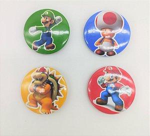 Bottons Super Mario com 10 unidades