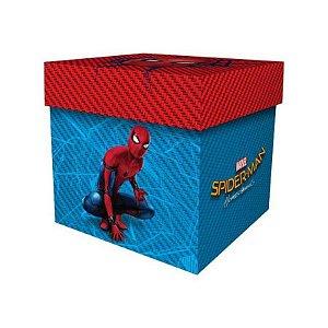 Caixa surpresa cubo Homem Aranha com 08 unidades