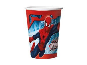 Copo de papel Ultimate Spider Man 330ml com 08 unidades