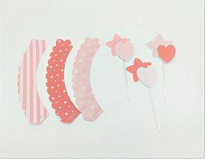 Kit para cupcake Bailarina com 06 unidades