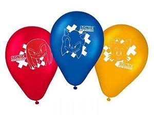 Balões látex Sonic com 25 unidades