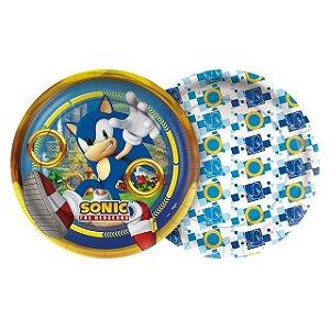 Prato redondo Sonic com 24 unidades