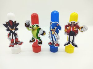 Tubete Sonic com 04 unidades