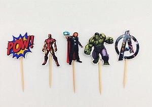 Pick decorativo Vingadores com 12 unidades