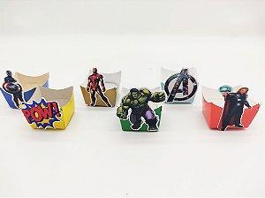Forminha Mini Cachepot Vingadores com 12 unidades