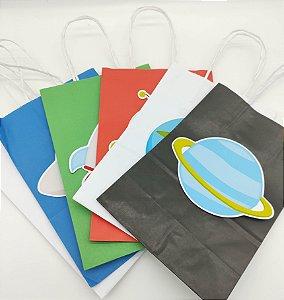 Sacola de papel Astronauta com 06 unidades