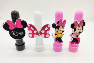 Tubetes Minnie Rosa com 4 unidades