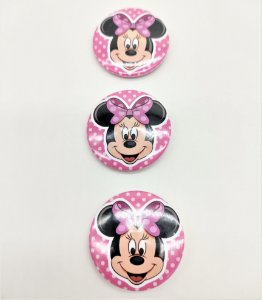 Bottons Minnie Rosa com 10 unidades