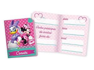 Convite Pequeno Minnie Rosa com 08 unidades