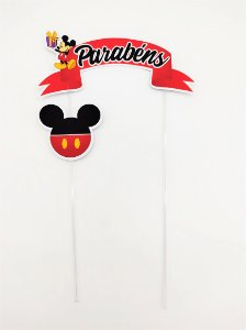 Topo de Bolo personalizado Mickey Clássico