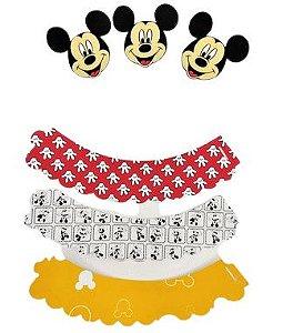 Kit para cupcake Mickey com 06 unidades