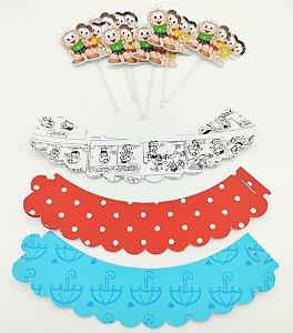 Kit para cupcake Turma da Mônica com 06 unidades