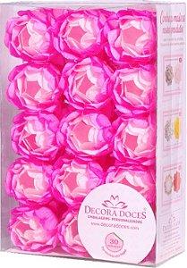 Forminha Decora Doces Degradê Rosa 30 unidades