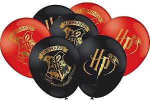 Balão látex 9'' Harry Potter com 25 unidades