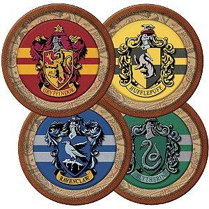 Prato redondo Harry Potter com 08 unidades