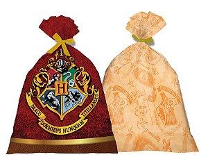Sacola Plástica Harry Potter com 08 Unidades
