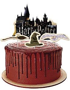 Topper para Bolo Harry Potter Hogwarts