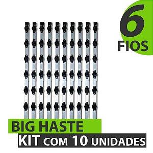 BIG HASTE PARA CERCA ELÉTRICA COM 6 FIOS - KIT COM 10
