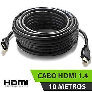 CABO HDMI 1.4 PRETO 10MT COM FILTRO ESPECIAL